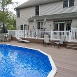 two story wolf deck around pool