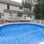wolf two story deck around pool