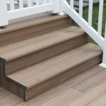 close up of wolf deck pool patio stairs