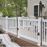 white vinyl fence and railing with lights