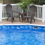pool lounge chairs on patio deck