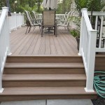 brown wolf decking pool patio stairs