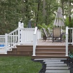 wolf pool two story deck with vinyl fencing