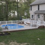 large outdoor pool wolf deck during the day