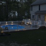 outdoor wolf two story pool deck at dust
