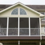 close up of enclosed porch deck in avondale, pa