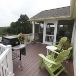 luxury wolf deck beside enclosed porch in avondale, pa