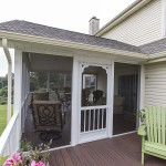 Screened in porch built by custom deck installer