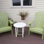 outdoor vinyl deck with chairs and patio furniture