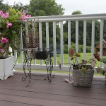 Vinyl deck in Avondale PA with potted flowers and plants