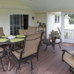 Furnished porch built by custom deck installers in Avodale PA