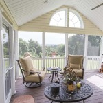 screened in porch with vinyl wolf decking