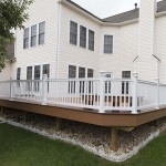 outdoor deck with white railings