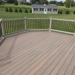 faux wood attached deck