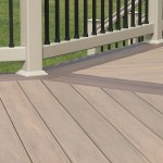 close up of wolf deck with attached vinyl railing