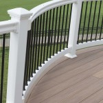 white vinyl railing with black balusters
