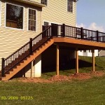 Spring City vinyl deck installed by Deck Craft