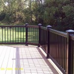 close up of clubhouse decking with black vinyl railing